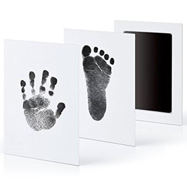 Baby Care Non-Toxic Baby Handprint Footprint Imprint Kit Casting Parent-Child Hand Inkpad Fingerprint Watermark Infant Toys