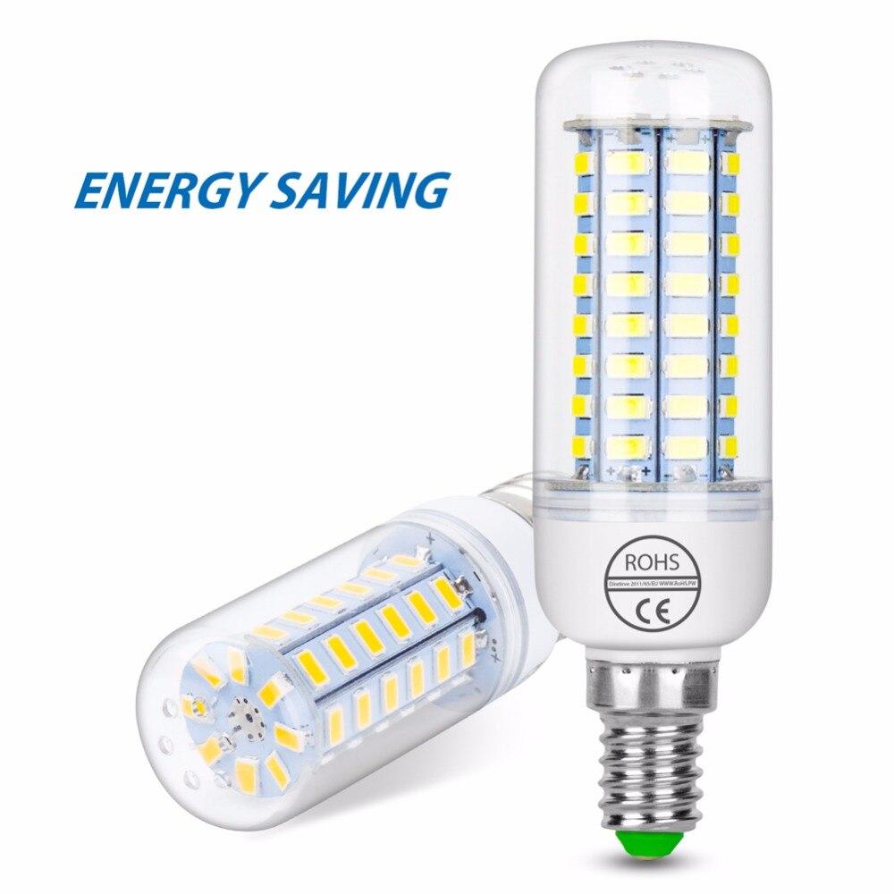 E27 LED Corn Bulb E14 Led Lamp 220V Chandelier Candle Light 24 36 48 56 69 72leds Bombillas 3W 5W 9W 12W 15W 20W 25W SMD5730 B22