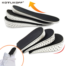 KOTLIKOFF Height increase Elevator insoles pads Memory Foam Heel Lift Inserts Soles for shoes Men Women Shoe foot pad Massage