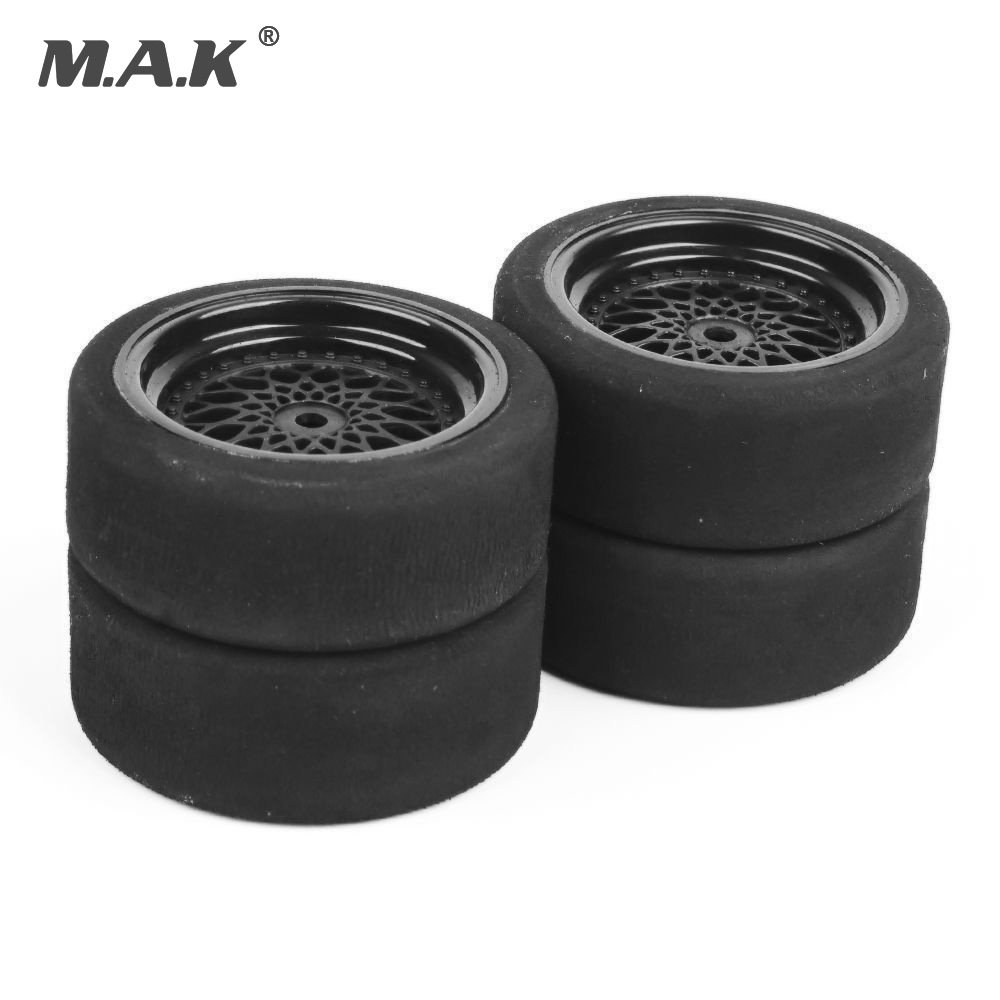 4pcs lot Rc Car Tires 3mm Offset Sponge Tyres Wheel Rim Fit HSP HPI 1 10 Scale On Road Racing Car Toys Unique Foam Tires 23001 in Parts Accessories from Toys Hobbies