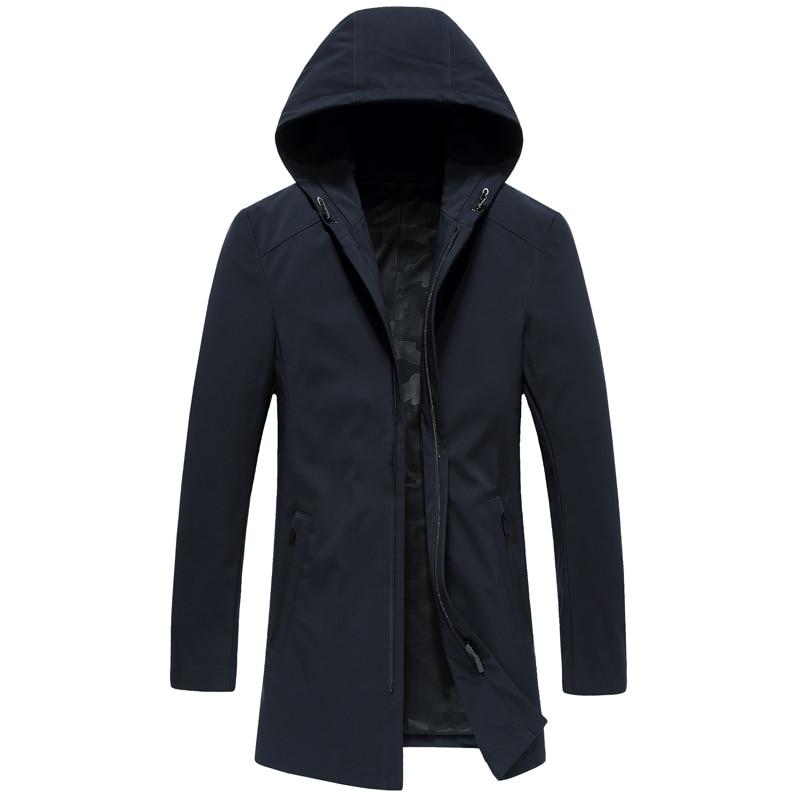 Di Modo di inverno nuova giacca con cappuccio Addensare grande formato blu nero Bianco delle donne giù cappotto - 6