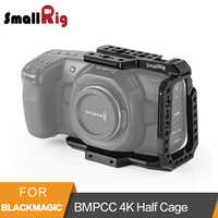 SmallRig BMPCC 4K 6K Half Cage for Blackmagic Design Pocket Cinema Camera Cage With Nato Rail/Arri Locating Hole/Could Shoe-2254