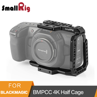 SmallRig BMPCC 4K Half Cage for Blackmagic Design Pocket Cinema Camera Cage With Nato Rail Arri Locating Hole Could Shoe 2254