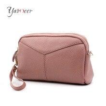 Yaomeer Genuine Leather Women Day Clutch Bags Handbags Women Famous Brands Ladies Wristlet Clutch Wallet Evening Party Bag C01