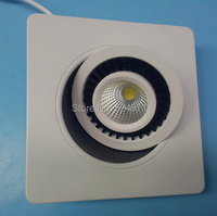Free Shipping High Qualty Dimmable 15W COB LED Downlight Square 15W LED Ceiling Down Lamp White