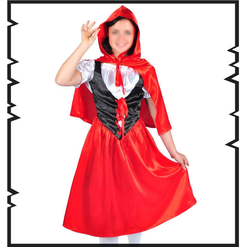 little red riding hood costume little red riding hood adult costume halloween costumes for women red party cosplay euro size