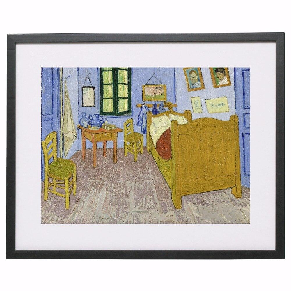 Van Gogh Slaapkamer in Arles 1889 Canvaskunst Schilderen Poster Muur ...