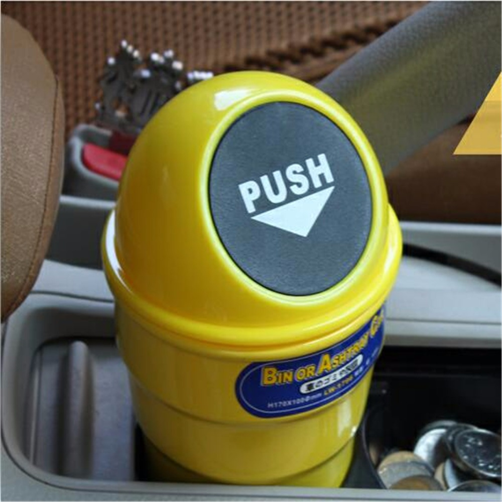 Car styling Car Trash Can Garbage Dust Fit for SAET loen lbiza VW Golf 4 5 6 7 Tiguan Ford Focus