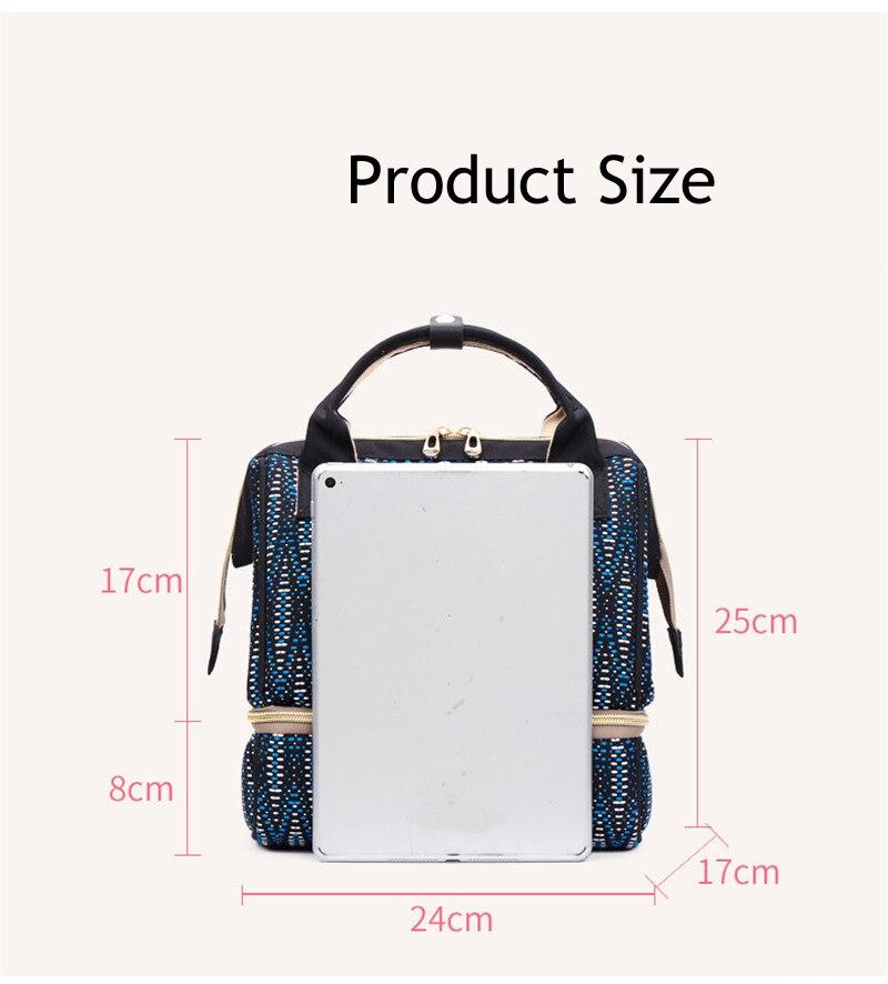 HTB1az0QAcyYBuNkSnfoq6AWgVXam Fashion Mummy Maternity Diaper Bag Large Baby Bags For Mom Thermal Insulation Travel Nappy Chaning Backpack Stroller Organizer