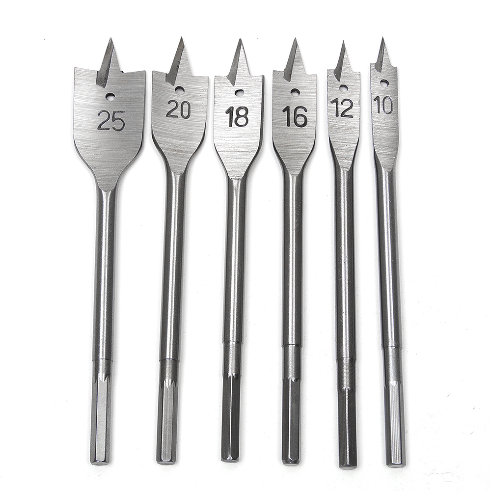6PCs Wood Drill Bit Set Hole Saw Cutter Woodworking Tools for Wood jelbo cone step drill hole tools countersink 3pc drill bit set power tools step drill bit for metal power tools set hole cutter