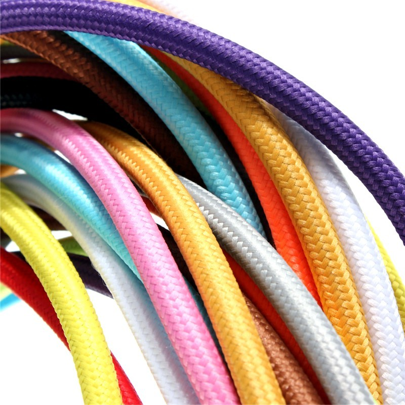 2*0.75 10M/Lot Edison Textile Cable Fabric Wire Chandelier Pendant Lamp Wires Braided Cloth Electrical Cable Vintage Lamp Cord