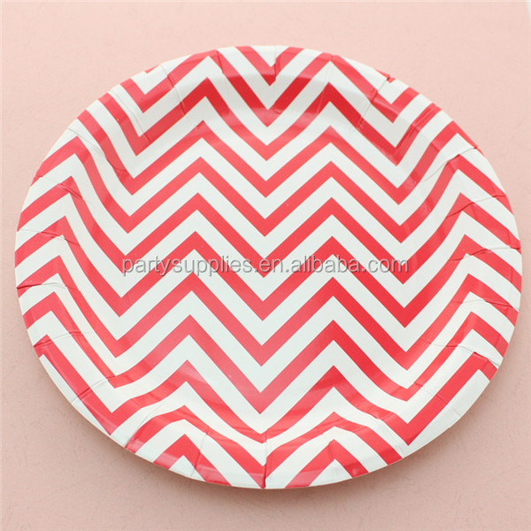 Free Shipping 1200 multicolor Chevron 9  Paper Plates for Baby Shower Birthday Wedding Party Tableware-in Dishes u0026 Plates from Home u0026 Garden on ...  sc 1 st  AliExpress.com & Free Shipping 1200 multicolor Chevron 9