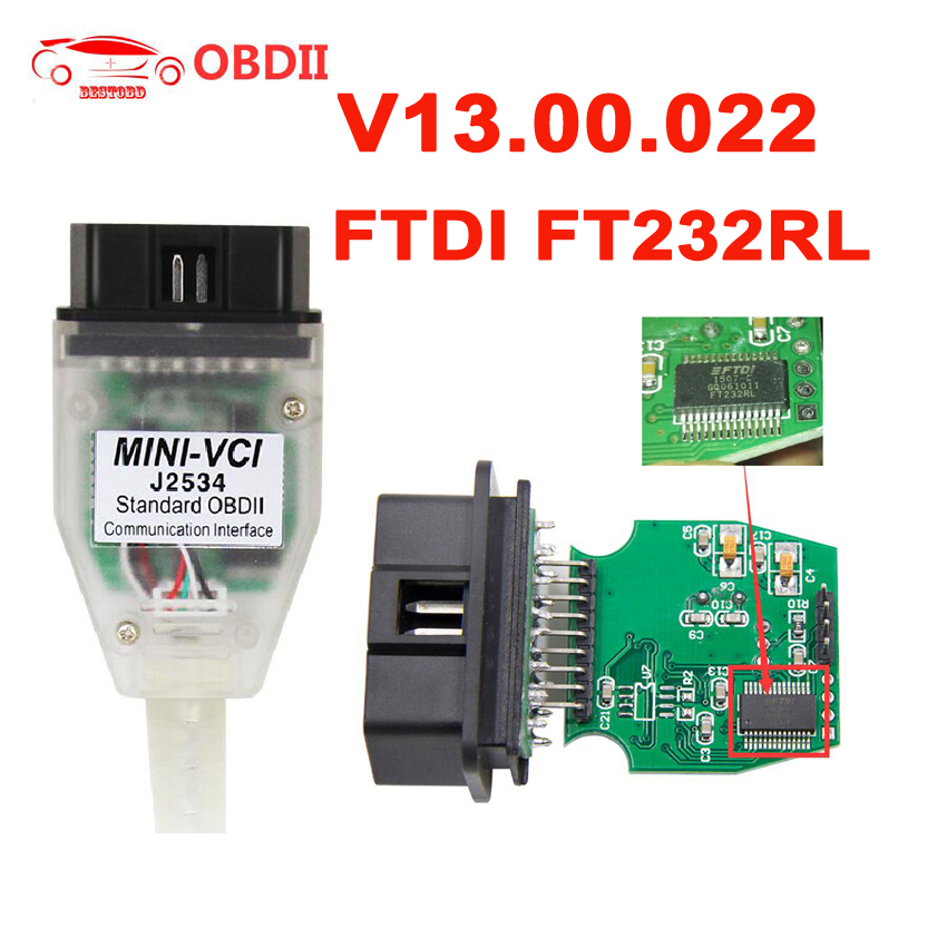 US $11 4 18% OFF|MINI VCI V13 00 022 For Toyota INPA K+CAN for BMW ELS27  FORScan for Ford Op com v1 95 for Opel J2534 For Honda OBD Diagnostic-in  Car