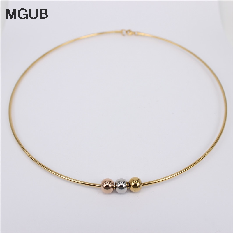 MGUB 2020 New Collar 6 Style Selection Stainless Steel Activity Smooth Beads Cute Woman Present Special Sale