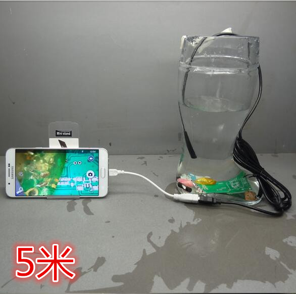 7MM5 Mian Zhuo phone computer Universal USB industrial endoscope endoscope HD camera pipe car zhuo qi