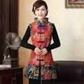 Nuevo otoño de la llegada invierno chino tradicional Women'sCotton alargan lino chaleco ml XL XXL MTJ20150059