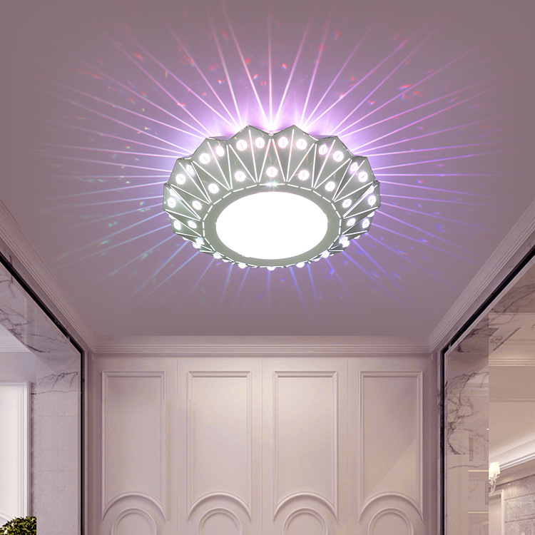 Modern LED Ceiling Light Lamp 3W Round Aisle Hallway Corridor Entrance Foyer Lobby Lighting Fixture Sconce Light