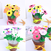 New design DIY non-woven artificial flower pot children hand toys,Early childhood educational toys F-01