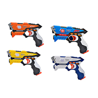2Pcs Kids Toy Guns Infrared Laser Tag Blaster Laser Battle Pack with Mechanical Worms Sports Toy Gift