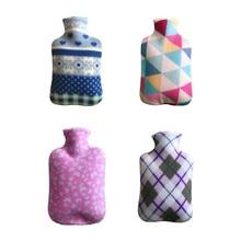 4-Цвет большой с одной стороны флис тканевое покрытие для 2000 мл горящаяя Бутылки для воды взрывобезопасная Защитная резиновая грелка съемный