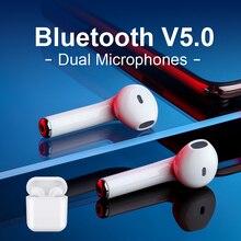 Abigail i10 TWS 5,0 беспроводные наушники Bluetooth наушники с двумя микрофонными наушниками спортивные наушники гарнитура наушник для телефонов air pods
