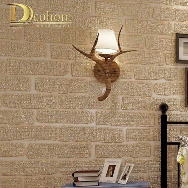 Mediterranean Beige Green Grey Brown Embossed Brick Wall Wallpaper Bedroom Living Room Modern Decoration 3D Wall Paper