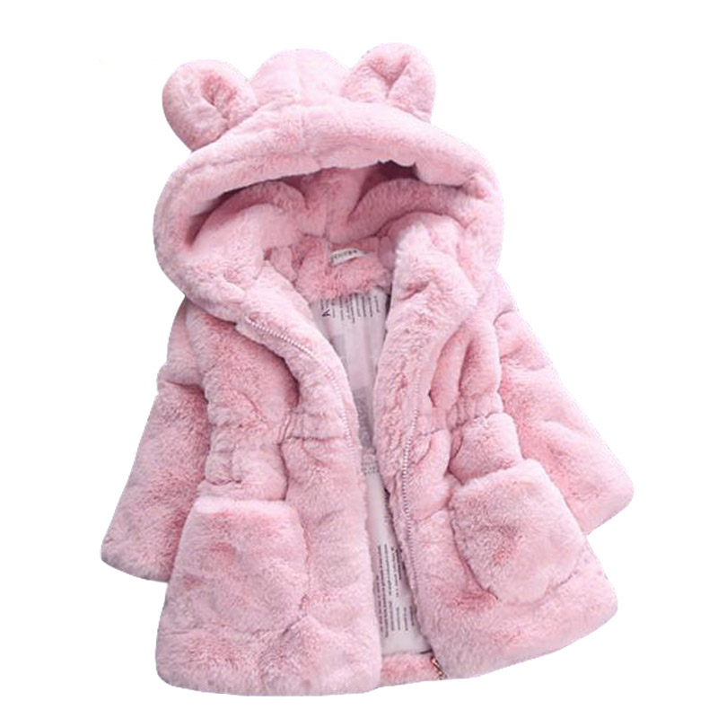 Baby Girls Jackets 2018 Autumn Winter Jacket For Girls Fur Coats Kids Warm Hooded Fur Outerwear Coat For Girls Children Clothes цены