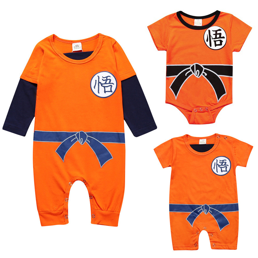 Dragon Ball Baby Rompers Spring Summer SON GOKU Boy Children's Clothes Newborn Girls Jumpsuit Infant Toddler Clothing Body Suit newborn baby girls rompers 100% cotton long sleeve angel wings leisure body suit clothing toddler jumpsuit infant boys clothes