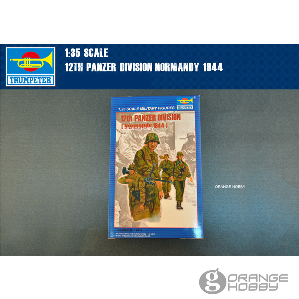 OHS <font><b>Trumpeter</b></font> 00401 <font><b>1/35</b></font> 12th Panzer Division Normandy 1944 Miniatures Assembly Military figures Model Building Kits oh image