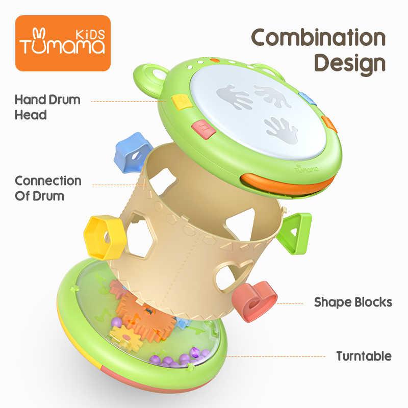 Tumama Детские музыкальные игрушки ручные барабаны Детские Музыкальные инструменты Pat барабан детские игрушки 6-12 месяцев музыкальная игрушка для малышей Дети