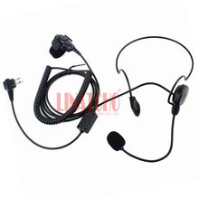 behind the neck finger PTT tactical walkie talkie mic earphone 2 pin for CP88 CP100 CP150 CP200