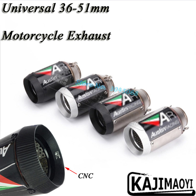 36-51mm 160mm Length Modified Universal Motorcycle Exhaust Motorbike Muffler Pipe S1000RR Z800 CBR1000RR ZX-10R R6 DB Killer CNC цена