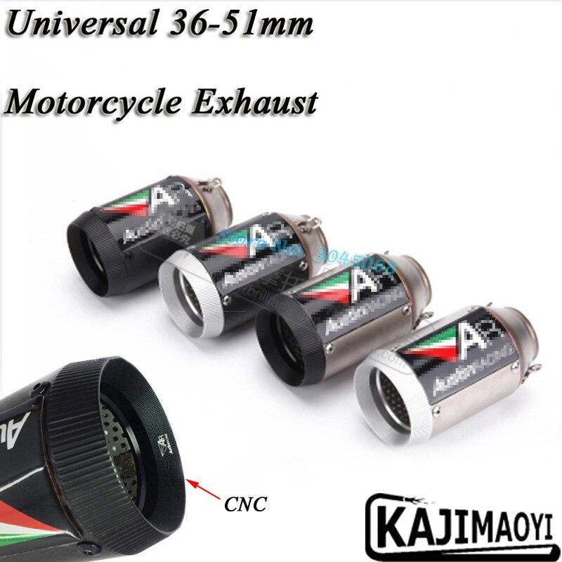 36-51mm 160mm longueur modifié universel moto d'échappement moto silencieux tuyau S1000RR Z800 CBR1000RR ZX-10R R6 DB tueur CNC