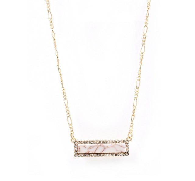 Stone Appeal Long Bar Pendant Delicate Necklace Women 4