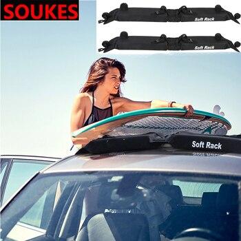 багажник на крышу Kia | 2 шт. мягкий Автомобильный Универсальный верхний багажник багажная рейка полоса для Hyundai Creta Tucson Volkswagen VW Golf 6 7 GTI Kia Ceed Rio Sportage