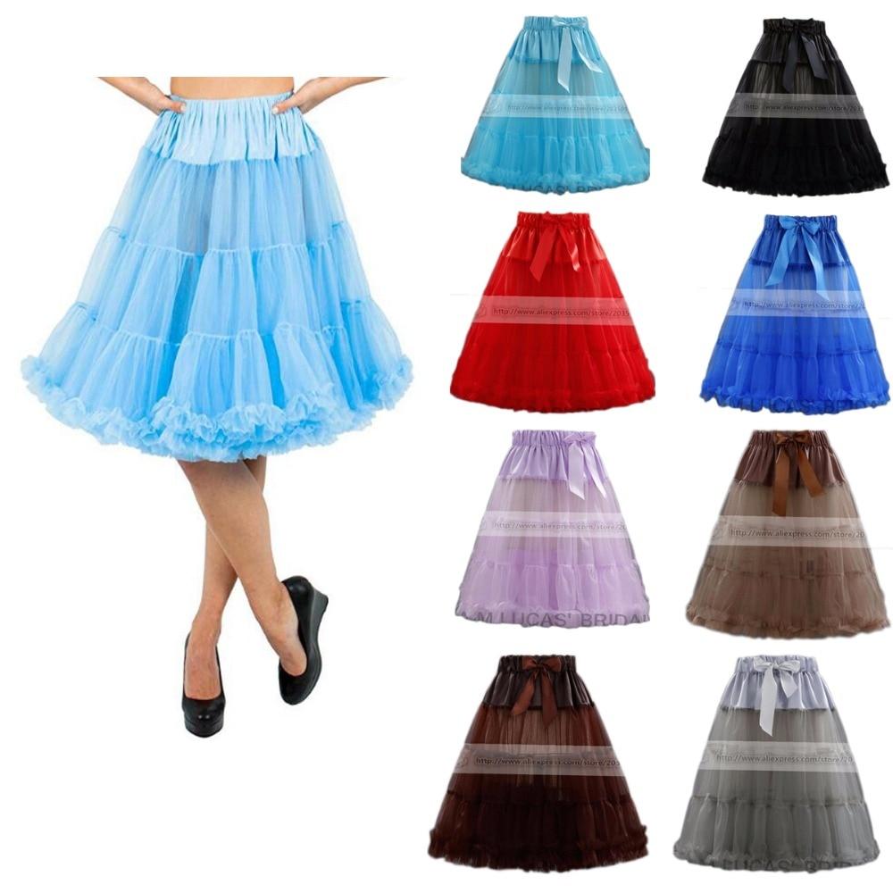 14 Colors Petticoat For Wedding Women Tutu Skirts 50s' Tulle 52 CM Crinoline Underskirt