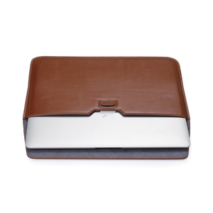 Image 5 - Leather Laptop Sleeve Bag For Macbook Air PRO 13 Case 11 12 15 Touch Bar Notebook PU Leather Case Ultrabook Carry Bag