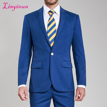 Linyixun Black Patterns Men Suits Blazer 2018 Latest Design Mens Suits Groom Tuxedos Groomsmen Wedding Party Wear Suits(China)