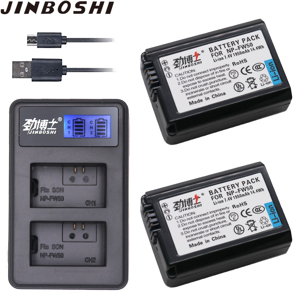 Chargers Accessories & Parts Professional Sale Palo Np-fw50 Np Fw50 Lcd Usb Dual Charger For Sony Alpha A6500 A6300 A7 7r A7r A7r Ii A7ii Nex-3 Nex-3n Nex-5