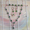 Derongems_Fine Jewelry_Elegant Natural Green Jades Jewelry Sets_S925 Silver Real Jades Wedding Sets_Manufacturer Directly Sales
