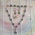 Derongems_Fine Jewelry_Elegant Natural Verde Jade Joyería de Boda Sets_S925 Jades Plata Real Sets_Manufacturer Ventas Directamente