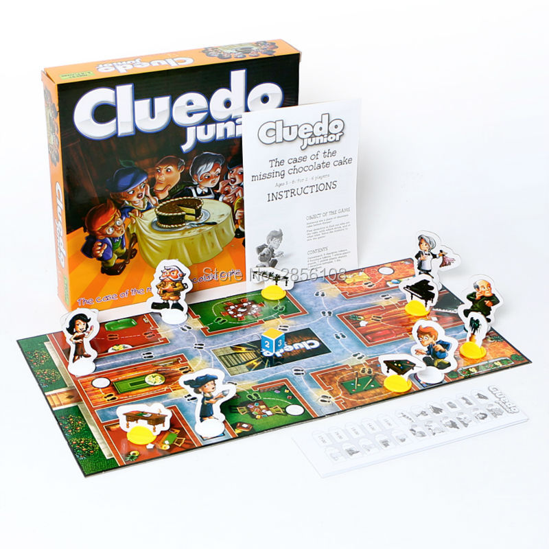 cluedo junior - Funny Cluedo Junior The case of the missing chocolate cake Classic Family Board Game Kid Adult Educational Toy Party Game