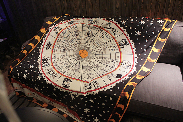 Tarot masa örtüsü en boy astroloji takımyıldızı kurulu oyun halısı, kanepe kılıfı halı OtsugeUranainandesu yenilik dekorasyon battaniye