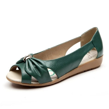 Summer Sandals Women shoes Genuine Leather Women Hollow Out elegent Shoes Casual Female Breathable Shoes Flats