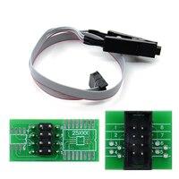 Hohe Qualität SOIC8 SOP8 DIP8 Test Clip Buchse Adpter BIOS 24 25 93 USB Programmierer Programmierbare TL866CS TL866A