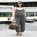 2016 лето хлопок беременным брюки мода беременна биб удобный хлопок опора живот беременной женщины купальник