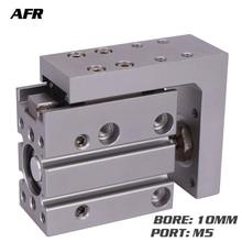 цена на Compact Slide Series MXH10-20 MXH10-25 MXH10-30 pneumatic slider (linear guide) Air cylinder Bore 10mm Stroke 20 25 30mm