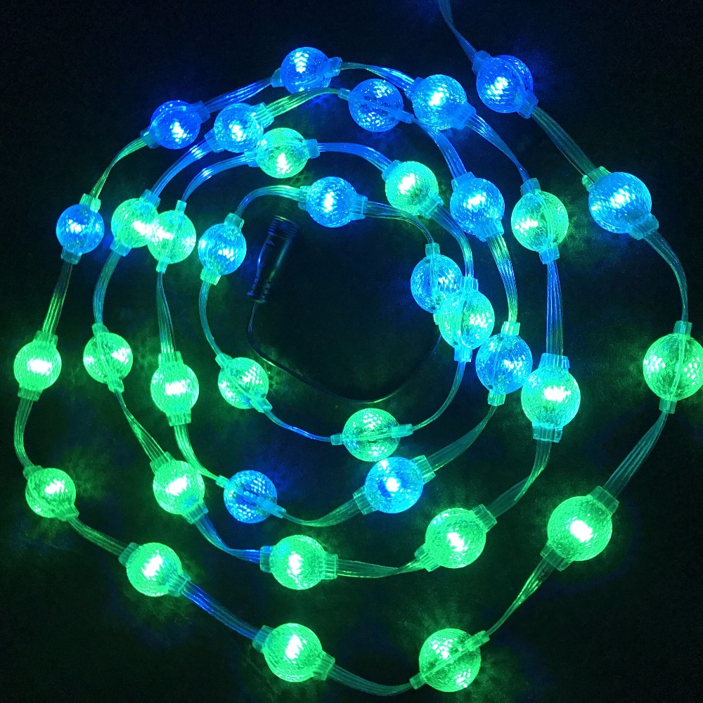 40pcs/string 25mm DC12V UCS1903 LED addressable rgb full color pixel light;IP54; 2LEDs/0.48W(double sided)2pcs 3535 SMD RGB LEDs