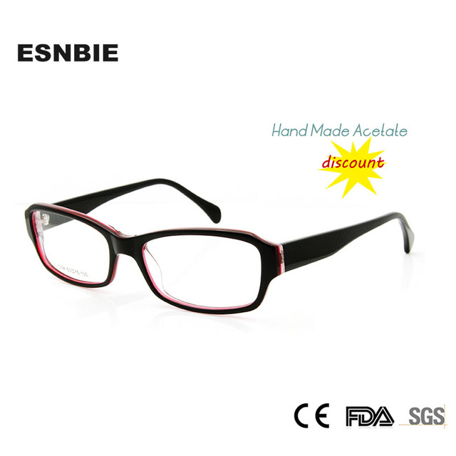 c08fe208630 ESNBIE Glasses Frame Women Hand Made Acetate Custom Prescription Eyeglasses  oculos Square Fashion Frame China
