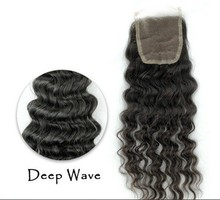 7A Deep Curly Lace Closure Virgin Human Hair 4*4 130% Density Swiss Lace Closure Deep Curly Free Part No Bleached Knots